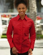 Chemises flocage Long Sleeve Poplin Blouse Fruit of the Loom