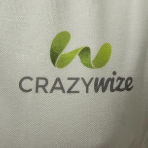 Polos blanc en impression directe pour Crazy Wize