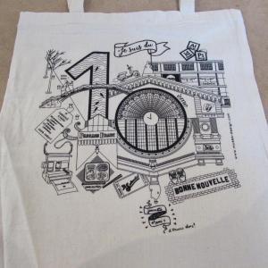 Tote bag en sérigraphie pour Muses Design